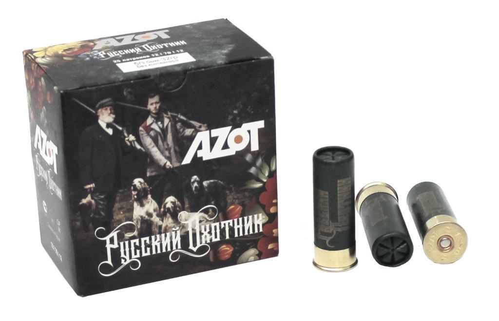 Патрон для гладкоствольного оружия АЗОТ (12/70) 32гр Русский Охотник - F1461