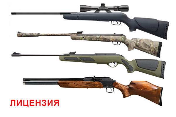 Пневматические винтовки (лицензия)