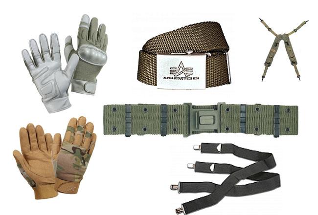Ремни, подтяжки, перчатки, гетры