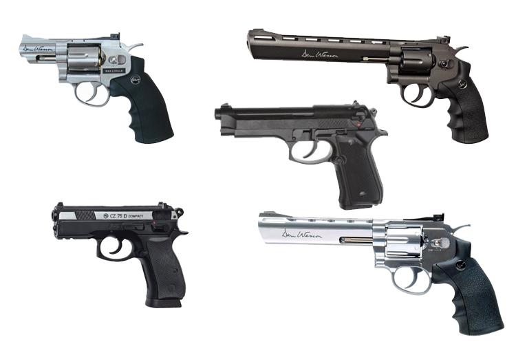 Страйкбольные пистолеты и револьверы